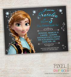 Girls Frozen Birthday Invitation Frozen by PixelPerfectShoppe, $11.00