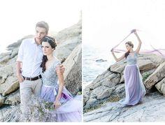 After Wedding Shoot an den Klippen von Roses in Spanien
