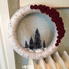 My new Christmas yarn wreath!