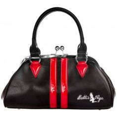 Sourpuss Bettie Page Dollface Purse in red.