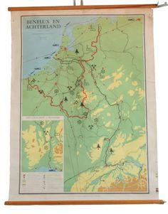 Oude landkaart (zoals die vroeger in de klas hing)