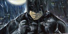 Regen über Gotham City