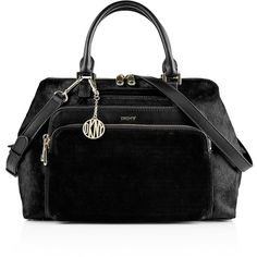 DKNY Riverside Haircalf Satchel ($520) ❤ liked on Polyvore featuring bags, handbags, black, satchel purse, crossbody handbags, satchel handbags, crossbody satchel and sling purse