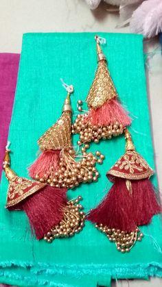 Handmade in Leicestershire. Saree Tassels Designs, Saree Kuchu Designs, Blouse Designs, Rakhi Making, Rakhi Design, Christian Dior, Thread Bangles, Fabric Jewelry, Boho