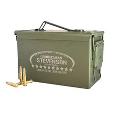 Best Man Gift Engraved Ammo Box Personalized with by ScissorMill