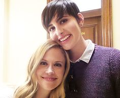 Grimm& ladies Jacqueline Toboni (Trubel) and Claire Coffee (Adalind Schade) at the episode celebration. Grimm Cast, Claire Coffee, Grimm Tv Show, David Giuntoli, Grimm Fairy Tales, Best Tv Shows, The Secret, The 100, It Cast