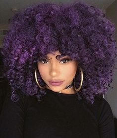 purple crochet hairstyle
