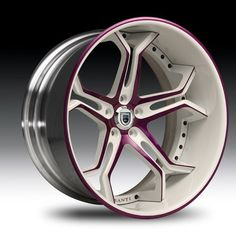 Asanti Wheels Rims 20 22 24 inch White Window Purple Accent Stripe -- don't know a thing about these rims or if they would fit my car, but I love them. Rims And Tires, Rims For Cars, Wheels And Tires, Car Wheels, Custom Wheels, Custom Cars, Pinstriping, Truck Rims, Car Rims