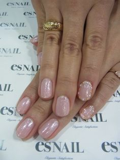 natural nails with metal design*