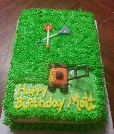 Lawn Mower Cake Decorations