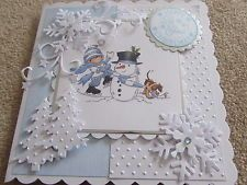 LOTV Lili of the Valley Handmade Christmas Card - Build a Snowman by SCT Designs