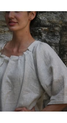ljstruthers pleat neck tunic