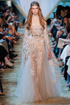 Elie Saab Fall 2017 Couture Fashion Show - Lex Herl