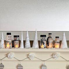 ...bottle snowmen!