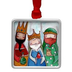 Shop Nativity Three Kings - Premium Ornament created by DudaDaze. Nativity Painting, Diy Nativity, Christmas Nativity, Christmas Themes, Christmas Crafts, Christmas Decorations, Christmas Ornaments, Nativity Scenes, Angel Crafts