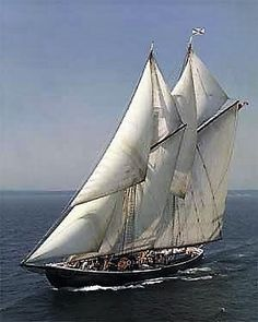 """The Bluenose"" iconic Nova Scotia fishing schooner launched in Lunenburg in 1921."