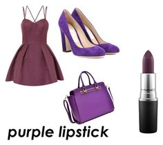 """""""All purple"""" by livadams206 on Polyvore featuring Chi Chi, MAC Cosmetics, Jimmy Choo and Dasein"""