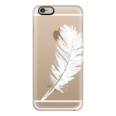 iPhone 6 Plus/6/5/5s/5c Case - Lovely white feather ($40) ❤ liked on Polyvore featuring accessories, tech accessories, phone cases, iphone cases, white iphone case, apple iphone cases and iphone cover case