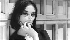 Barbara Steele in 8 1/2 (1963, dir. Federico Fellini)