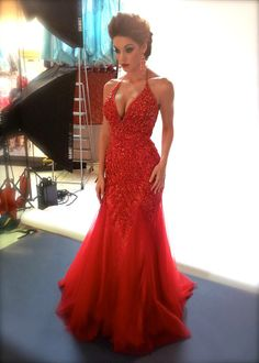 When in doubt, wear red. STYLE 81896R #MacDuggal