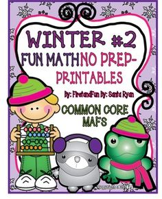 Winter 2  Pack  NO PREP Math packet Common Core and MAFS  This is a NO PREP math skills pack of print and do activities for your students.  nothern lights in aulstralia