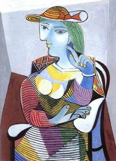 Mulher sentada (Marie-Therese Walter) (1937), óleo por Pablo Picasso (1881-1973, Spain)