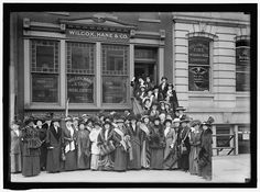 Suffragettes outside 1420 F Street NW, Washington, DC - Vanished:Washington-The architectural eulogy of what was Washington, D.C.