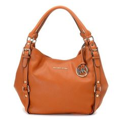 cf0b4de8b575 MICHAEL Michael Kors Medium Bedford Shoulder Tote Orange Michael Kors Bags  Outlet, Handbags Michael Kors