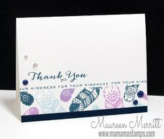 Mama Mo - W+9 Supplies:  Stamps:Fanciful Feathers// Ink:LakeHouse,Cockleshell,Nautical Navy, //Cardstock:Nautical Navy