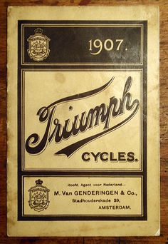 TRIUMPH 1907 BICYCLE CATALOGUE | Flickr - Photo Sharing!