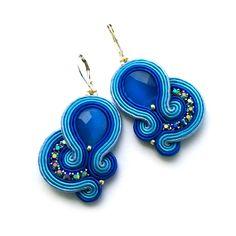 Soutache earrings – Statement earrings | SABO Design