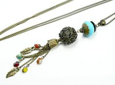 Hey, I found this really awesome Etsy listing at https://www.etsy.com/listing/198871398/long-pendant-necklace-bleue-beaded