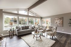 Great room staged by Room Solutions Staging in Portland OR #PortlandHomeStaging www.RoomSolutions.com