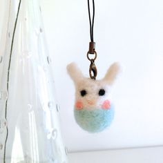 Needle felted Rabbit Bunny Baby. Great gifts for by Whitesundays, $10.00