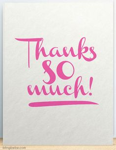 Thanks SO Much-thank you card by blingbebe greetings - Adventskalender Basteln Birthday Thank You, Birthday Messages, Birthday Wishes, Birthday Images, Happy Birthday, Thank You Pictures, Thank You Images, Thank You Cards, Thank You Qoutes