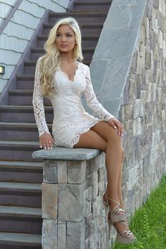 Princess stubbornly refuses to tackle the stairs in her mini dress and sky high platform heels