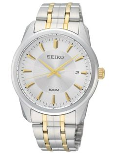 Seiko 3-Hand with Date Two-Tone Men's watch
