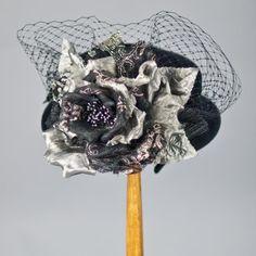 2174DHV Doll Hat, black w/gunmetal
