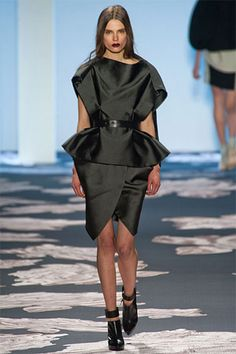 Vera Wang Fall 2013: Tuxedo Dress