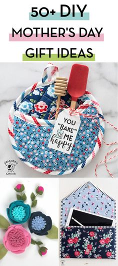More than 50 DIY Mother's Day gift ideas. Lots of fun things to make for mom, including free printable gift tags and simple sewing patterns gifts for mom birthday DIY Mother's Day Gift Ideas & Projects Mothers Day Gifts From Daughter, Unique Mothers Day Gifts, Gift For Mother, Mother Day Gifts, Diy Gifts For Kids, Easy Diy Gifts, Homemade Gifts, Diy Cadeau, Free Printable Gift Tags