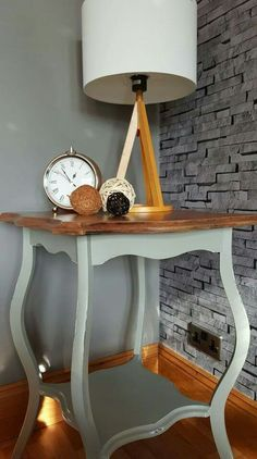 Lovely little side table painted in Frenchic Spitfire from their new Lazy Range, which features paint and wax in one Upcycled Furniture, Painted Furniture, Furniture Ideas, Annie Sloan, Chalk Paint, Lazy, Entryway Tables, Diy Projects, Range