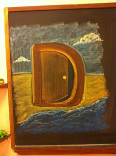 Waldorf ~ 1st grade ~ Letter: D ~ Door ~ chalkboard drawing
