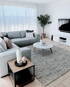 25 Gorgeous Living Room Color Schemes to Make Your Room Cozy. Delight living room color ideas grey The best color combinations for your living room is one that fits the atmosphere you want to create. Find a fresh look with these living room color schemes. Minimalist Living Room Furniture, Small Living Room Furniture, Cozy Living Rooms, Living Room Interior, Kitchen With Living Room, Simple Living Room Decor, Small Living Room Ideas On A Budget, Living Room Apartment, Small Living Room Designs