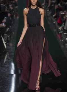 Dark ombre tones make this dress elegant and sophisticated. www.justblynk.com