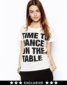 Enlarge Essentiel Antwerp Exclusive to Asos Time to Dance on the Table T-Shirt