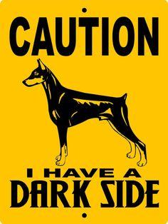 Doberman Pinscher Dog Sign 9x12 ALUMINUM dsdp1 by animalzrule, $12.00