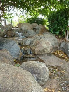 Inspiration for outdoor environments in EC Outdoor Play, Outdoor Decor, Early Childhood Education, Childcare, Stepping Stones, Waterfall, Environment, Garden, Kindergarten