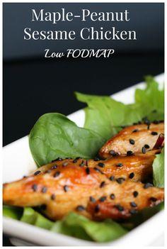 Bye-bye blase chicken dinner. This maple chicken is high end, low FODMAP weeknight dinner to make your week!