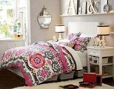 Girls Bedroom Ideas Using Colorful Duvet Covers Very Nice Decorating Inspiration