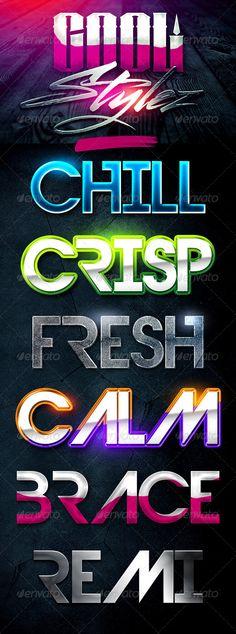 Cool Stylez Varied Photoshop Layer Styles